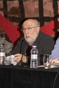 Eloy Fernández Clemente durante la presentación de CRISIS#8