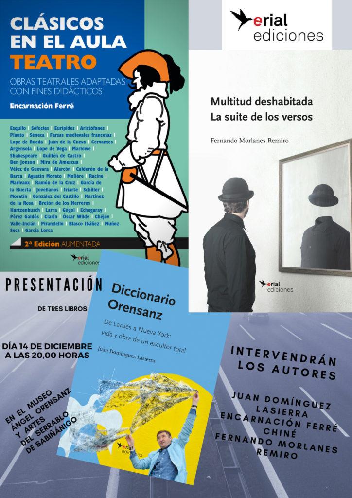 Juan Domínguez, Encarnación Ferré y Fernando Morlanes se presentan en Sabiñánigo